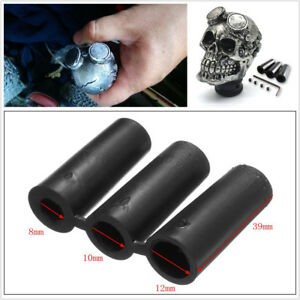 Manual Transmission Car Skull Head Gear Shift Knob Shifter Lever 8 10 12mm Hoses