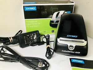 Dymo Labelwriter 450 Label Thermal Printer Power Usb Cable Manual 1750110