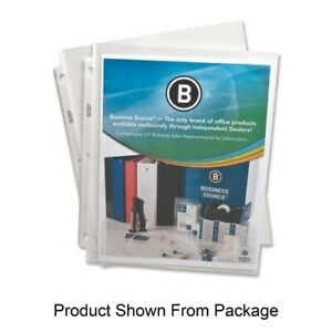 Business Source Sheet Protectors top Load 2 4 Mil 11 x8 1 2 50 bx clear Case
