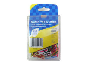 Colored Paper Clips case Of 24