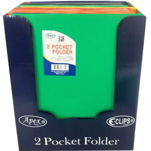 Two Pocket Plastic Folders 9 5 X 11 5 Case Pack 48