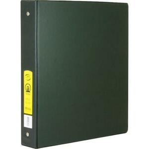 Bazic 1 Black 3 ring Binder With 2 pockets Case Pack 12