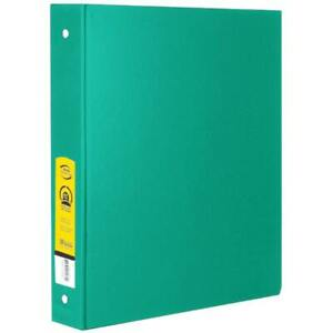 Bazic 1 Green 3 ring Binder With 2 pockets Case Pack 12