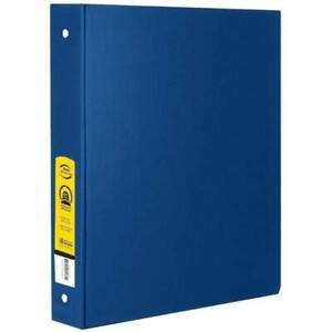 Bazic 1 Blue 3 ring Binder With 2 pockets Case Pack 12