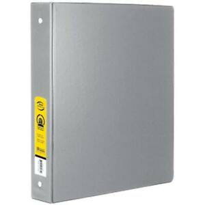 Bazic 1 Grey 3 ring Binder With 2 pockets Case Pack 12