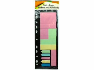 Sticky Page Markers And Note Pads