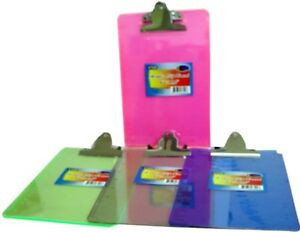 Bulk Acrylic Clip Board 6 X 9 Assorted Colors Case Pack 48