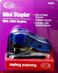 Mini Stapler With 1000 Staples Set Case Pack 48