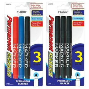 3 Pack Permanent Markers style 793 Case Pack 48