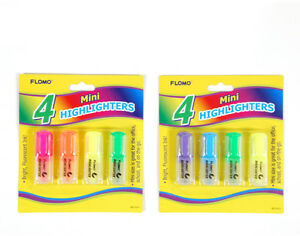 4 Pack Mini Highlighters Case Pack 48