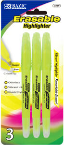 Bazic Erasable Highlighter 3 pack Case Pack 24