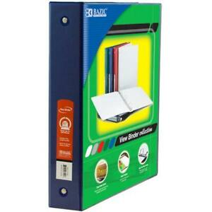 Bazic 1 5 Blue 3 ring View Binder W 2 pockets Case Pack 12
