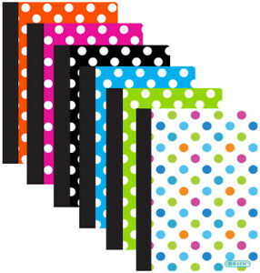 Polka Dot Poly Cover Personal Composition Book Case Pack 48
