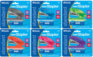Bazic Mini Standard 26 6 Stapler W 500 Ct Staples Case Pack 24