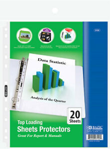 Bazic Top Loading Sheet Protectors 20 pack Case Pack 36