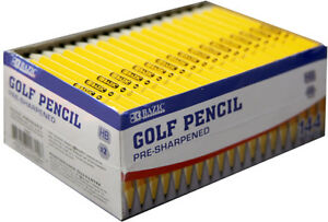 Bazic Pre sharpened 2 Golf Pencil 144 pack Case Pack 12