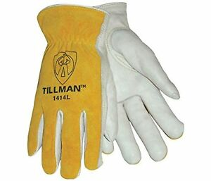 Tillman 1414l 1414 Unlined Cowhide Leather Drivers Glove Cowhide Leather