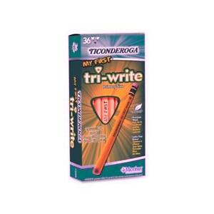 Dixon Ticonderoga Company No 2 Pencil triangular Shape beginner W eraser 36 b