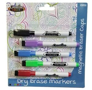 Dry Erase Markers 5 Pack In Assorted Colors Case Pack 48
