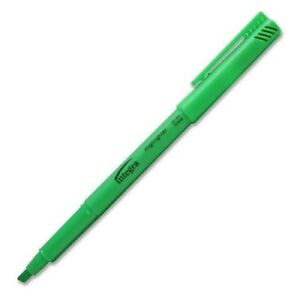 Pen Style Highlighter Chisel Point Fluorescent Green Case Pack 96
