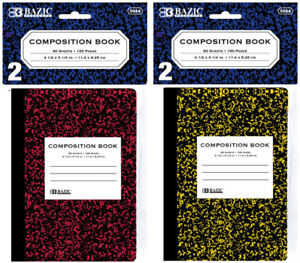 Bazic 80 Ct 4 5 X 3 25 Mini Marble Composition Book 2 pack Case Pack 24