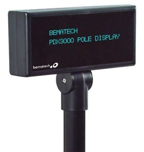 Logic Controls Pdx3000 up bk Pole Display 5mm Standard usb Port Powered bematech