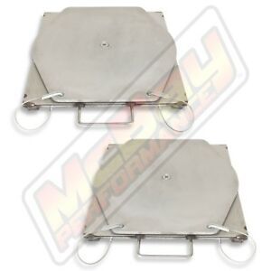 Medium Duty Commercial Truck Alignment Rack Stainless Steel Turn Plate Table Set