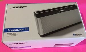 Factory Renewed Bose Soundlink III Bluetooth Speaker-Silver-In O Box W Warranty