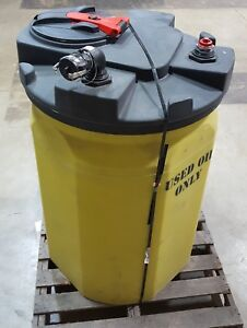 Used Oil Storage Container Closed Top Vertical 120 Gal Snyder Industries 6xvt1