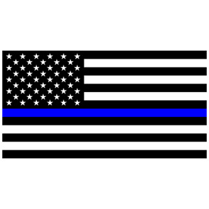 Police Officer Thin Blue Line American Flag Car Truck Decal Sticker Blue Lives