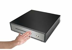 Manual Push To Close Black Open Register Cash Drawer W 5 Bill 5 Coin Steel