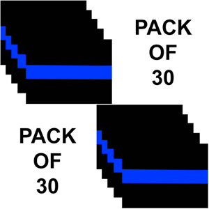 Thin Blue Line Police Officer Vinyl Decal Sticker Pack Of 30 Car Truck Cop Usa
