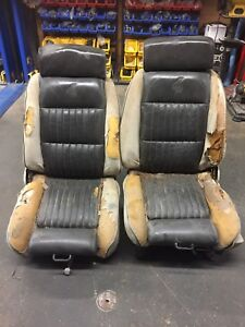 1978 1987 Grand National T Type Front Leather Power Bucket Seats Lear Siegler Gm