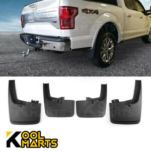 For 2015 2018 Ford F150 With Wheel Lip 4pcs Front Rear Mud Flaps Splash Guards