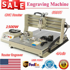 Usb 1 5kw Vfd 6090 Cnc Router 3d Carver Engraver Water Cooling Drilling Machine