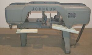 Johnson Model J Horizontal Band Saw With 9 X 18 Roller Conveyor