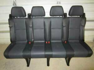 14 18 Mercedes Benz Sprinter Van 4 passenger Black Leather Rear Bench Seat