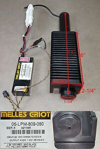 Melles Griot Red 11 Long Laser W 05 lpm 809 050 Power Supply 24vdc