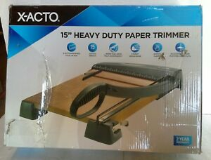 X acto 15 Heavy Duty 15 Sheet Paper Trimmer no Handle For Cutting Arm