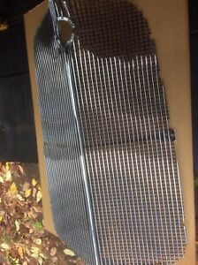 Vintage 1934 Nos Chevrolet Perforated Front Grill Crank Cover Original Box