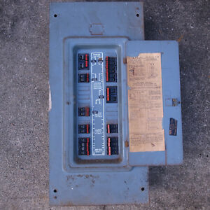 150 Amp Federal Pacific Electric Breakers Ground Bar And Box Panel Door