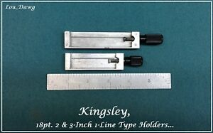 Kingsley Machine 2 3 inch 18pt 1 line Type Holders Hot Foil Stamping Machine