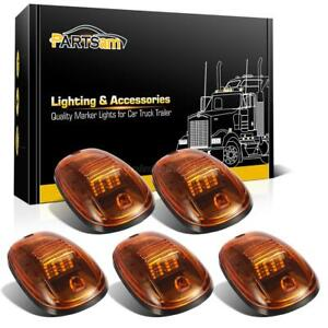 5 amber Roof Running Cab Marker Lights Yellow 16led Assembly For 03 18 Dodge Ram