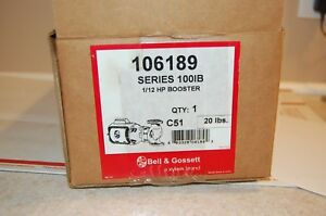Bell Gossett Series 100ib 1 12 Hp Booster Pump Model 106189