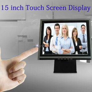 Pos 15 Touch Screen Led Touchscreen Monitor Restaurant Retail Bar 110v Sliver