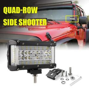5inch 308w Led Work Light Pods Side Shooter Spot Flood Offroad Jeep Suv Fog 6 7