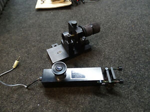 Lot Of 2 Nrc 12mm Eyepiece Optical Positioner Mirror Mount Mounting Stage Base