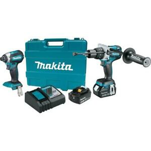 Makita 18 volt Lxt Lithium ion Brushless Cordless Combo Kit Xt267m 8b a0014