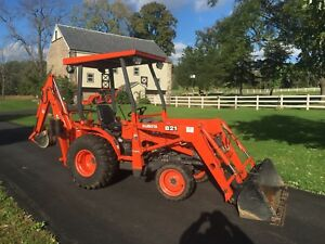 Kubota B21 Commercial Duty Tractor Loader Backhoe 67 Org Hrs 4x4 Hydro Nice