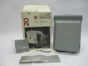 Ge Tu010ccp 20a 120v Power Outlet For Indoor Or Outdoor Use Type 3r Enclosure